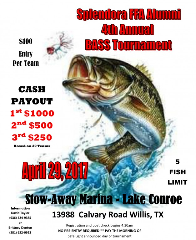 Seven coves bass club scbc setx b a s s nation leader for Fishing tournaments in texas 2017