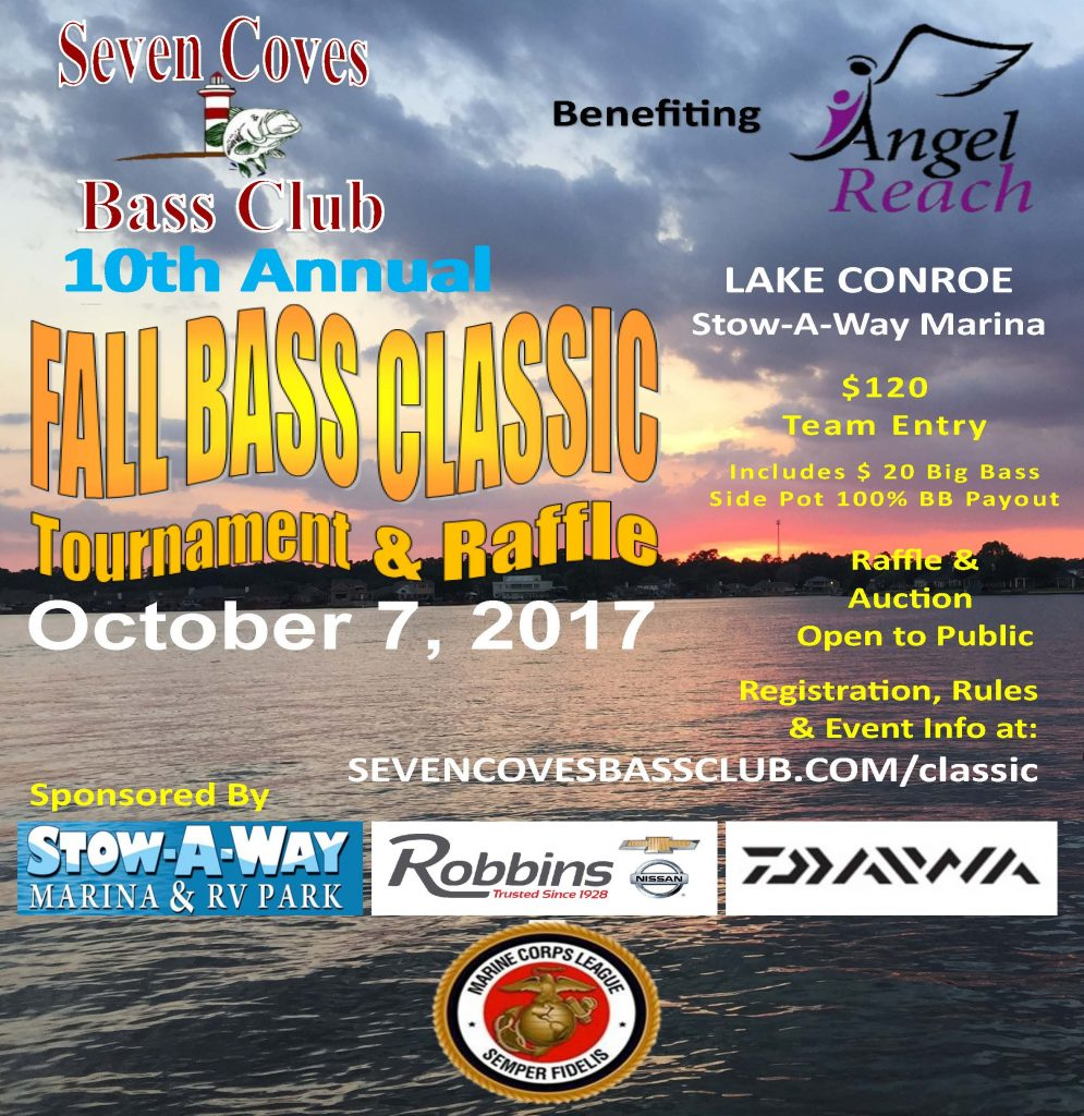 10th Annual Seven Coves Bass Club Fall Bass Classic 2017